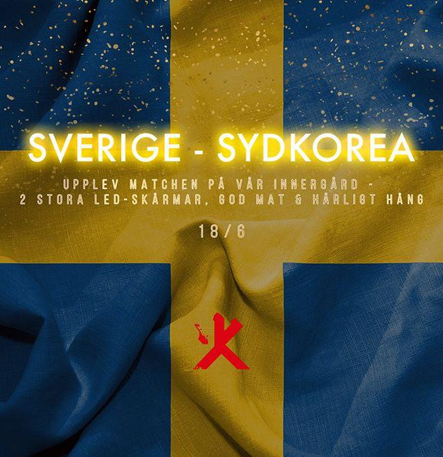 Inte långt kvar till första Sverigematchen! Vilka längtar?! 🇸🇪 Boka bord på kasai.se för att uppleva Stockholms bästa VM-hörna. Link i bio #kasaisthlm #fotbollsvm