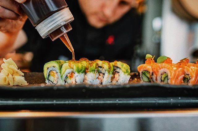 Precision när sushin ska göras 🍣🥢#kasaiinthesky #wearekasai
