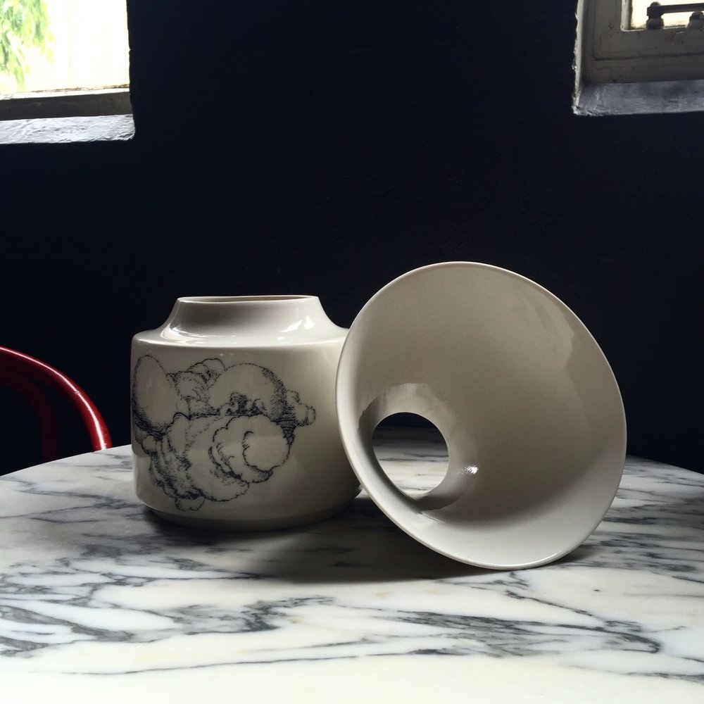 Ingrid Tufts and Craft Spittoon for Cumulus Up