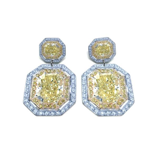 Anna Davern - Double Rock Earrings in Yellow
