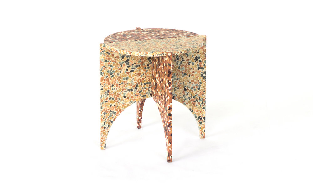 Nancy Ji's terrazzo  Archie  table. Image by Nancy Ji.