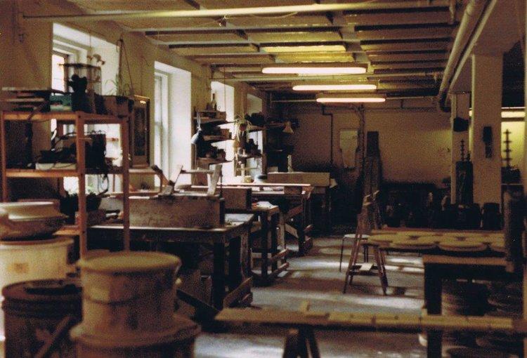 Jesper Packness pottery Copenhagen ca 1980, image courtesy of Lene