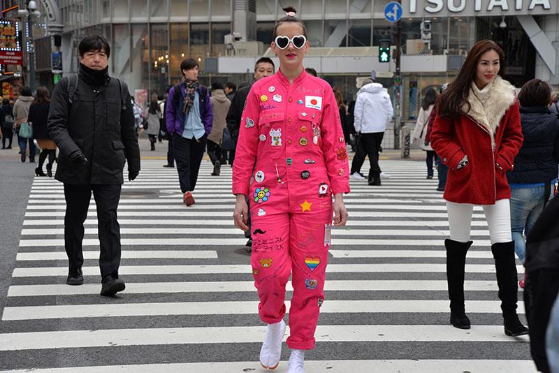 IMAGE above:Kate Just, Feminist Fan in Japan Uniform (in Action) , 2016 Digital Type C Print, 60 x 40cm