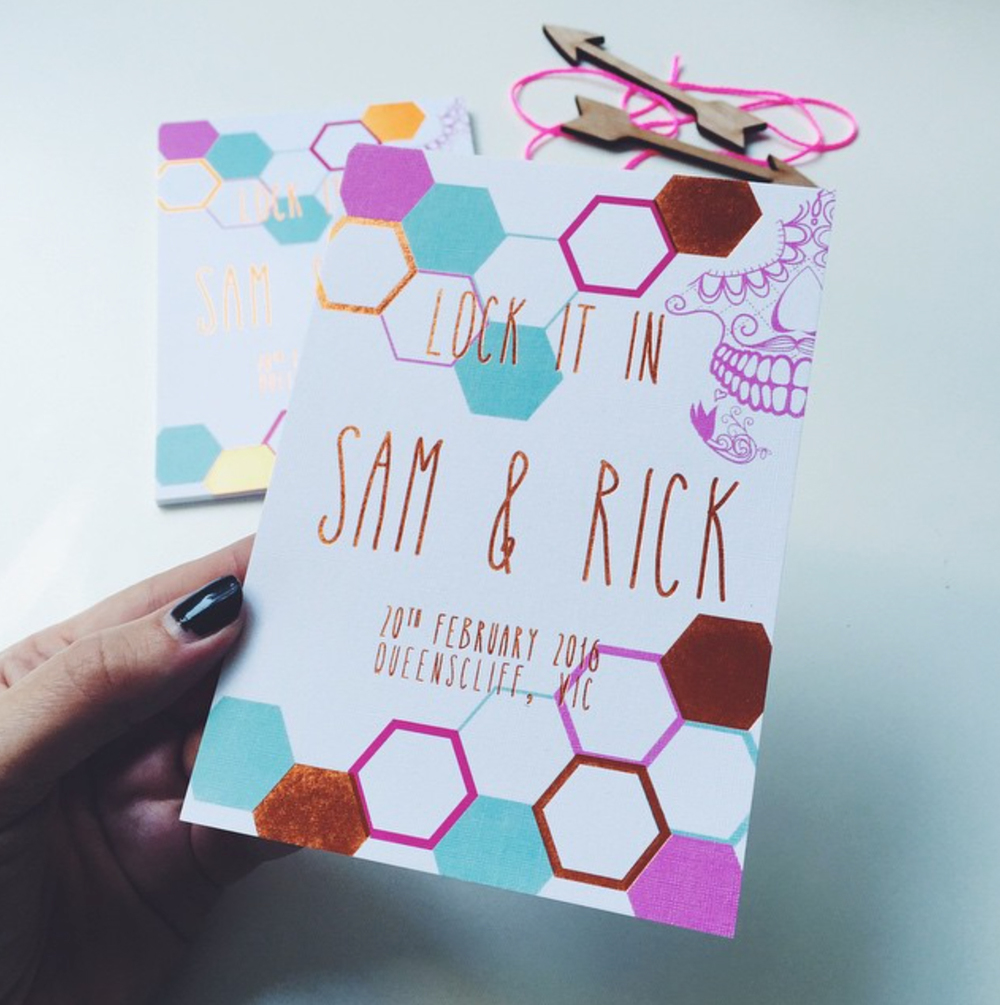 GEOMETRIC + COPPER FOIL