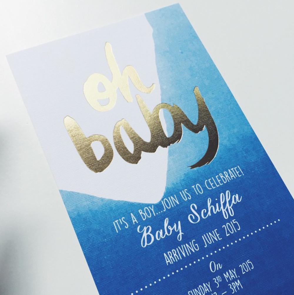GOLD FOIL 'OH BABY' + DIP DYE