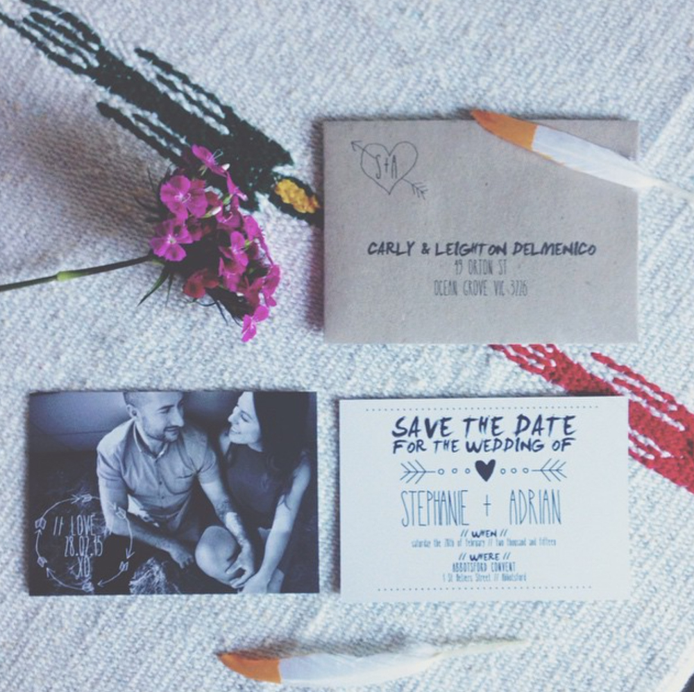 B&W SAVE THE DATES