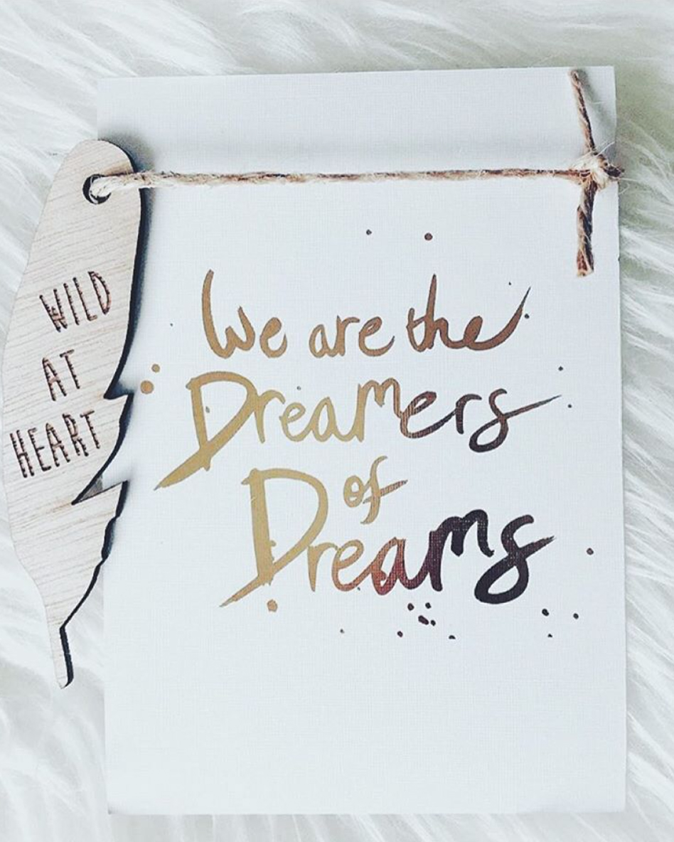 GOLD FOIL 'DREAMERS' INVITATION