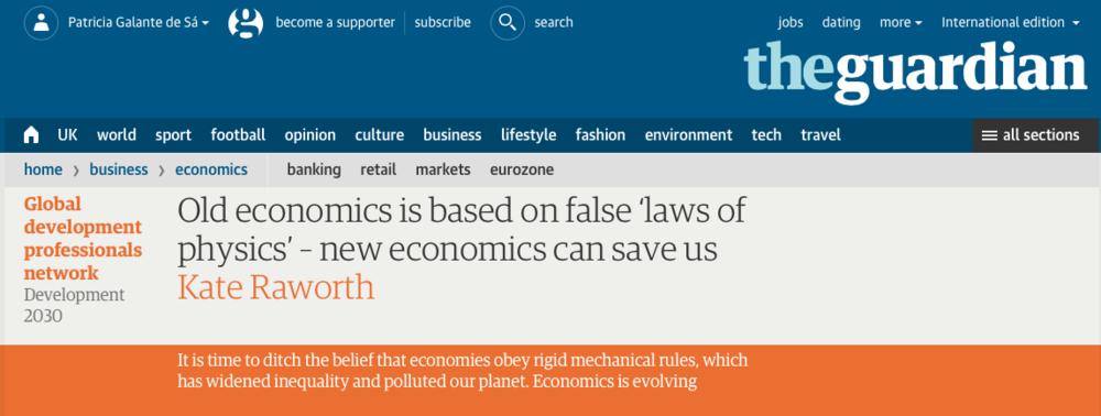 Economia Regenerativa - O jornal britânico The Guardian aponta a Regeneração como o único caminho para os negócios sobreviverem no futuro.