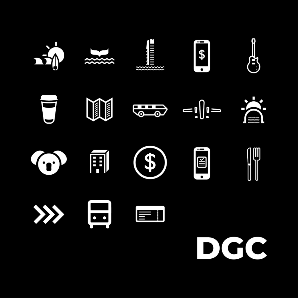 DGC required a icon pack for their Instagram Highlights section which included the tittles - What To Do, What To see, Where To Stay, among a few. -