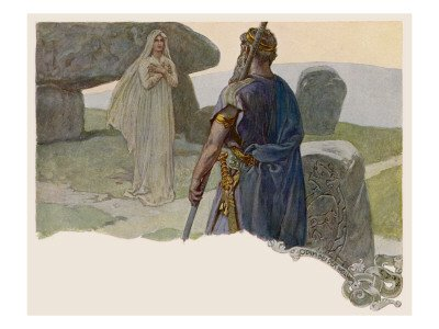 """Odin and the Prophetess"" by Emil Doepler (1910)."