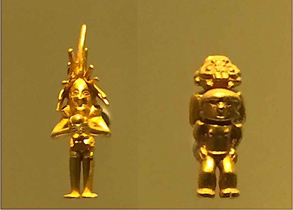 Ancient Shaman or Spacemen? Museum of Gold, Bogota, Colombia.