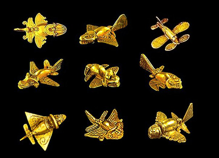 The Quimbaya Airplanes (or Tolima Airplanes), Museum of Gold, Bogota, Colombia.