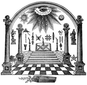 Freemasons symbols are structured around stonemasons tools.