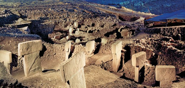 Göbekli Tepe was created about 9000 BCE, at a time humans were believed to have been hunting and gathering, scraping a subsistence.
