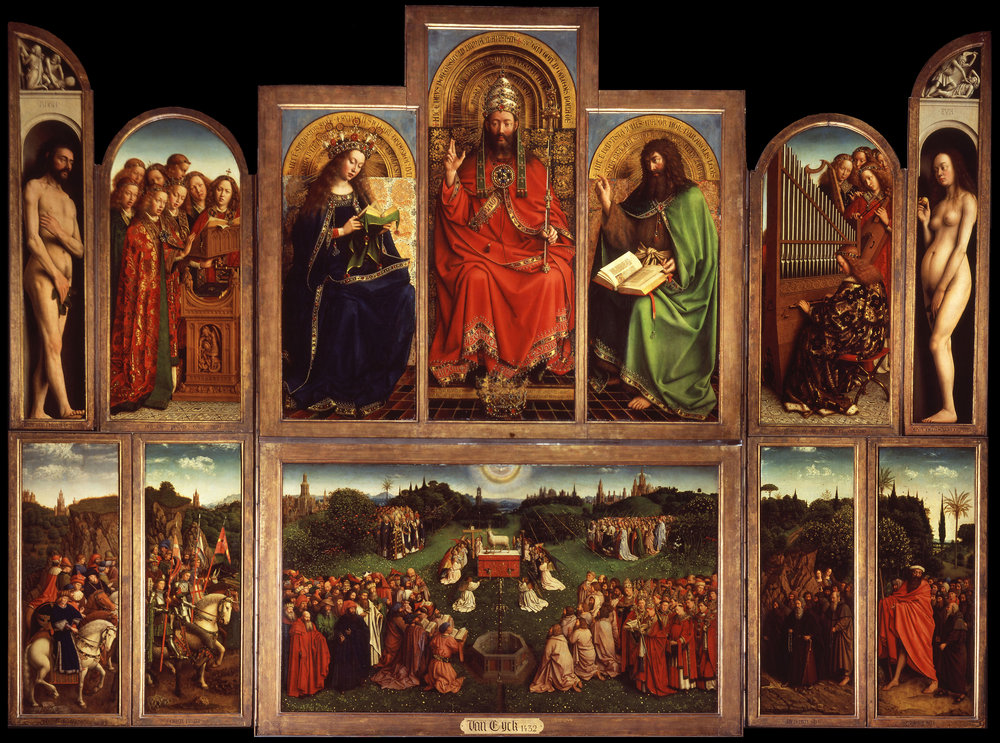 GHENT ALTARPIECE   . Jan van Eyck in 1432.