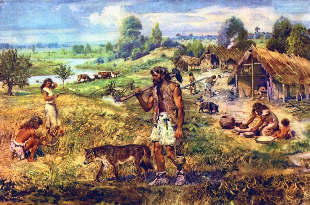 Dogs became essential farmers tools in the Neolithic era where they not only guarded fields and animal stocks from predators, but they doubled as effective weapons in tribal warfare.