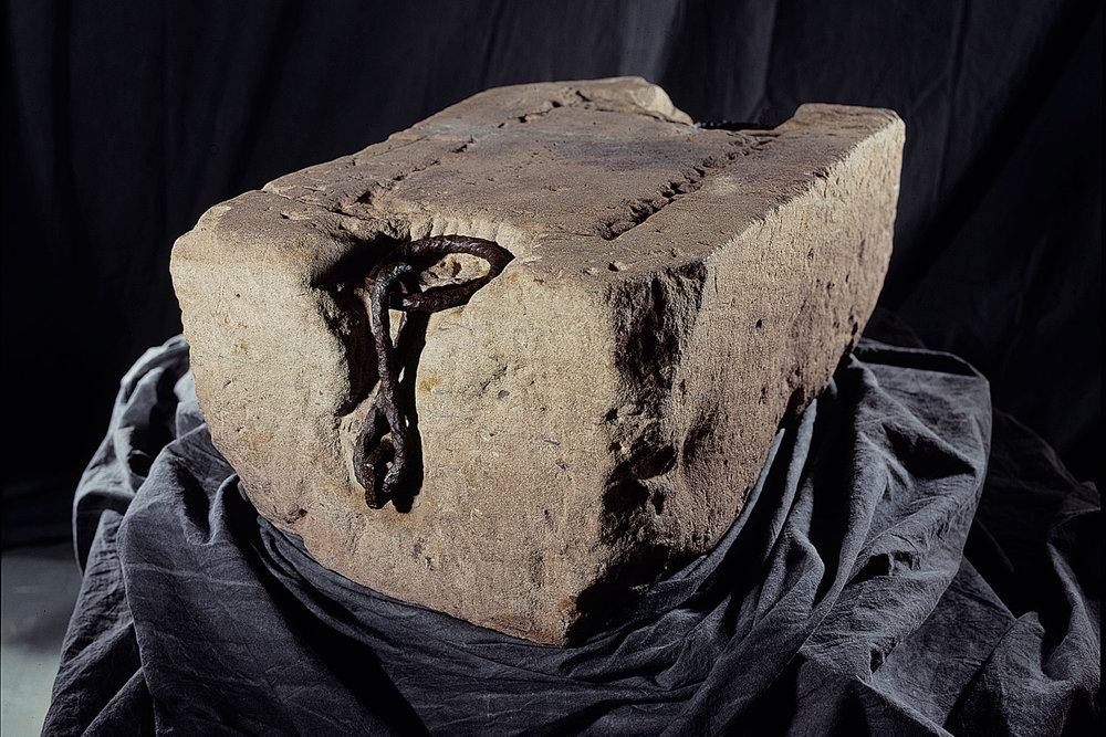 The Westminster Stone is currently on display in the Treasury at Edinburgh Castle with the Crown Jewels of Scotland