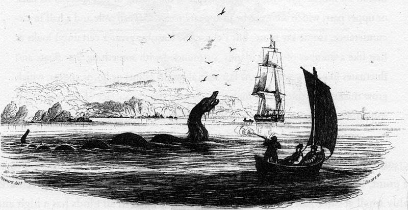 Sea serpent ( Nuckalavee)  from Bishop Erik Pontoppidan's 1755 work Natural History of Norway.