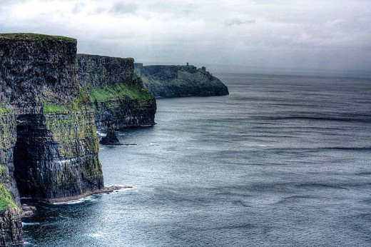 The Cliffs of Moher in County Clare, Ireland are also known as  Ceann Cailli,  named after the witch goddess Cailleach.