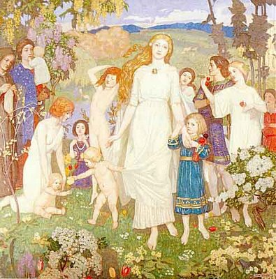 John Duncan The Coming of Bride, painted in 1917.