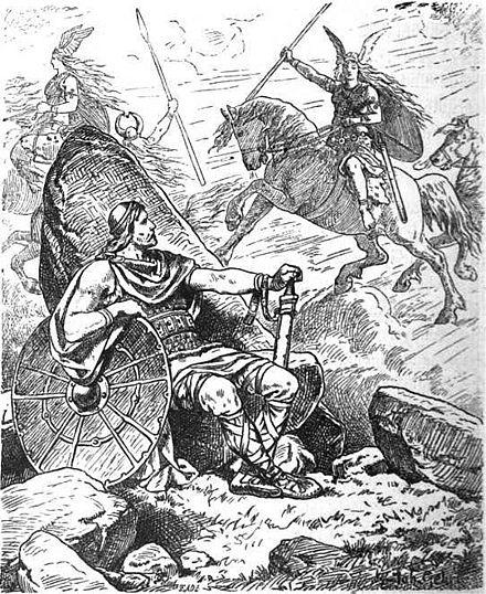 Helgi und Sigrun  (1901) by  Johannes Gehrts .