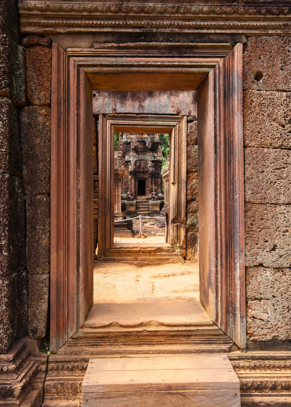 This photograph from Angkor Thom is a great example of the archtechtural progression towards the exemplary centre of a temple.