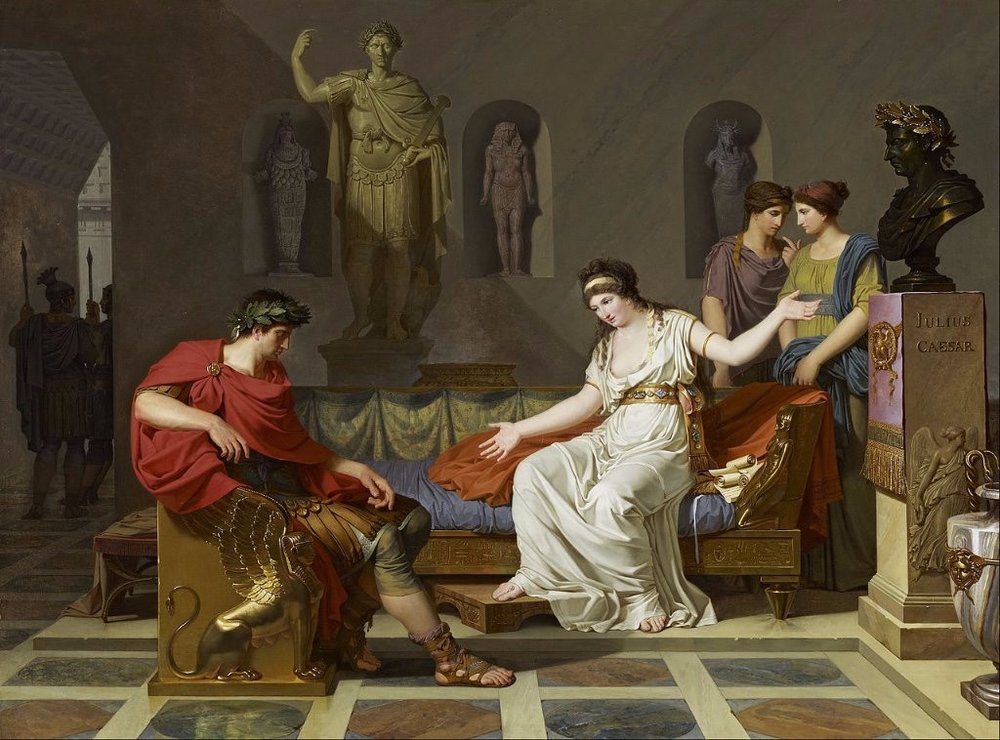 iCleopatra with Julius Caesar,1866, by Jean León Gérome.