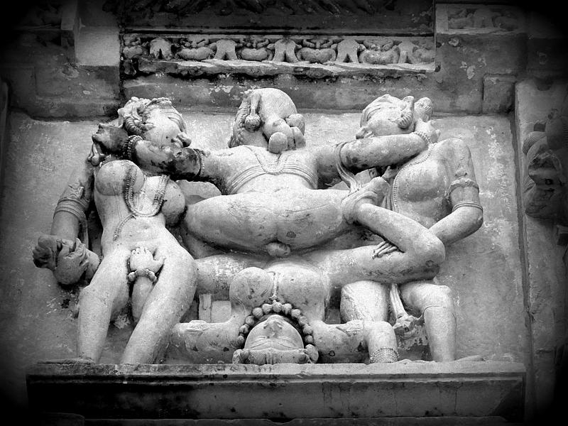 Khajuraho Monument sex carving.