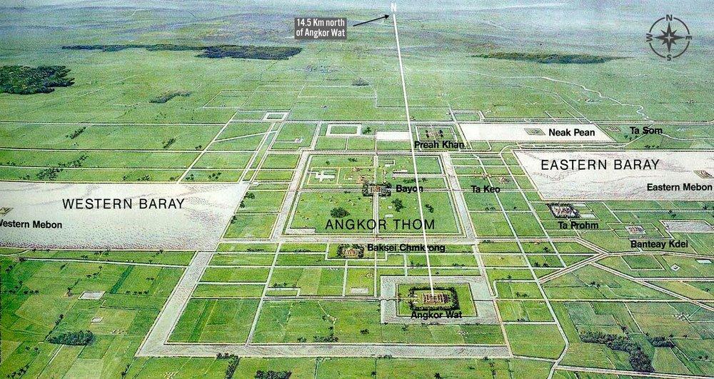 Figure 5. Angkor Wat meridian.