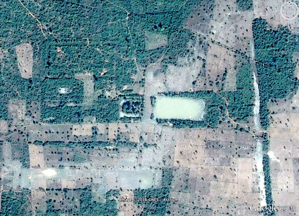 Figure 6: New location identified 14.5 kilometres north of Angkor Wat.
