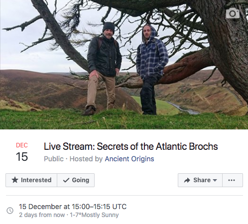 Live discussion on Ancient Origins Facebook Live -
