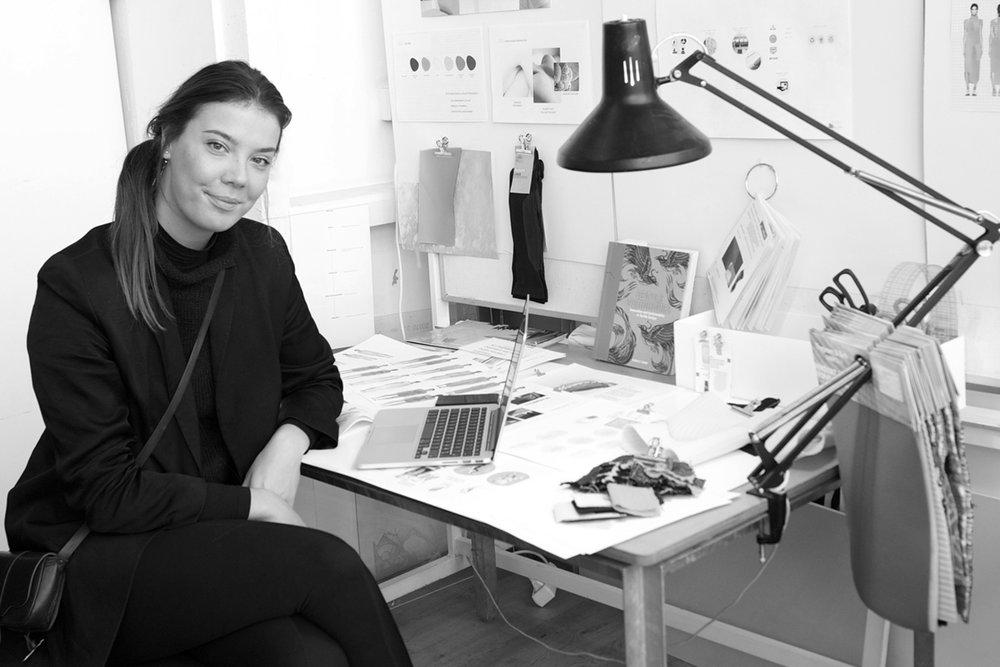 Dea Marcela in her studio