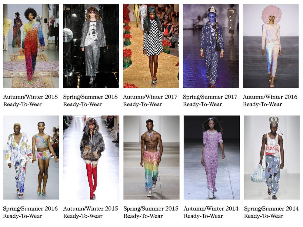 To date Ashish has shown at London Fashion Week 27 times, image via vogue.co.uk