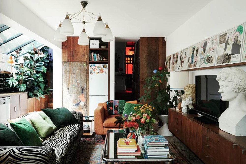 Ashish's home featured in British Vogue September 2018, photo by Simon Watson via instagram.com/ashish
