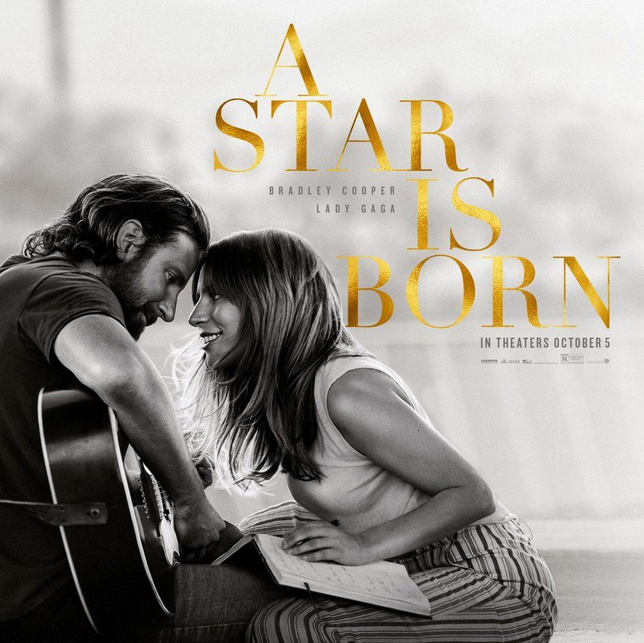 """Bradley Cooper and Lady Gaga star in """"A Star is Born"""" Image © Warner Brothers"""
