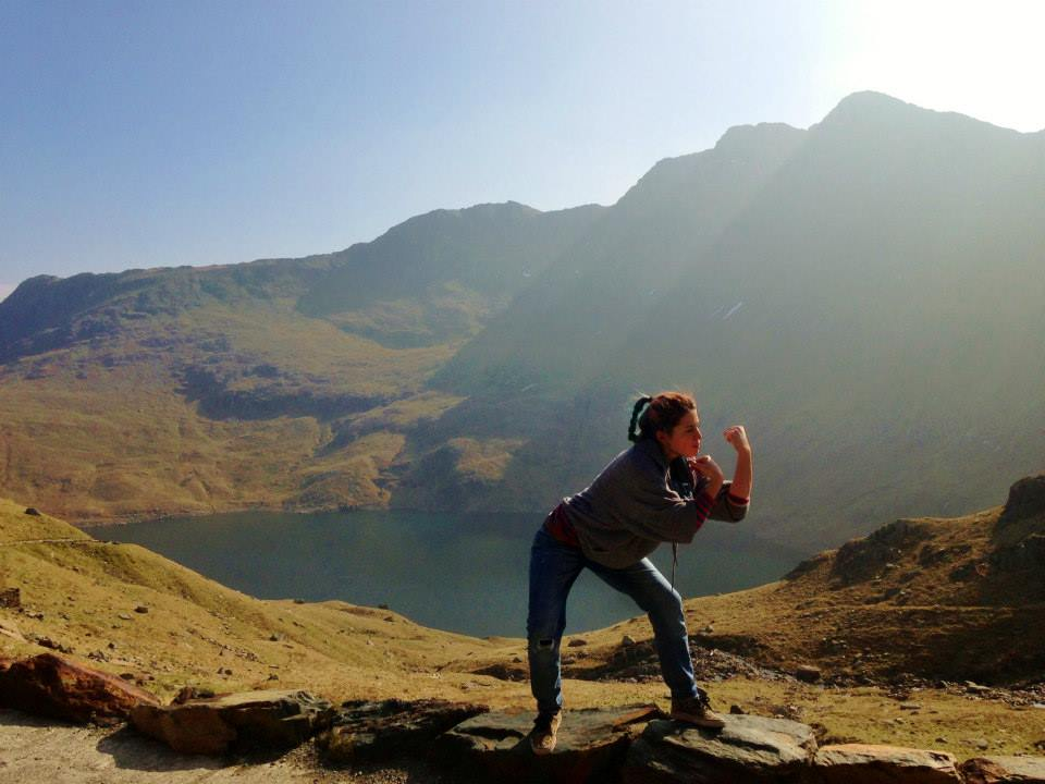 Power pose on Mount Snowden