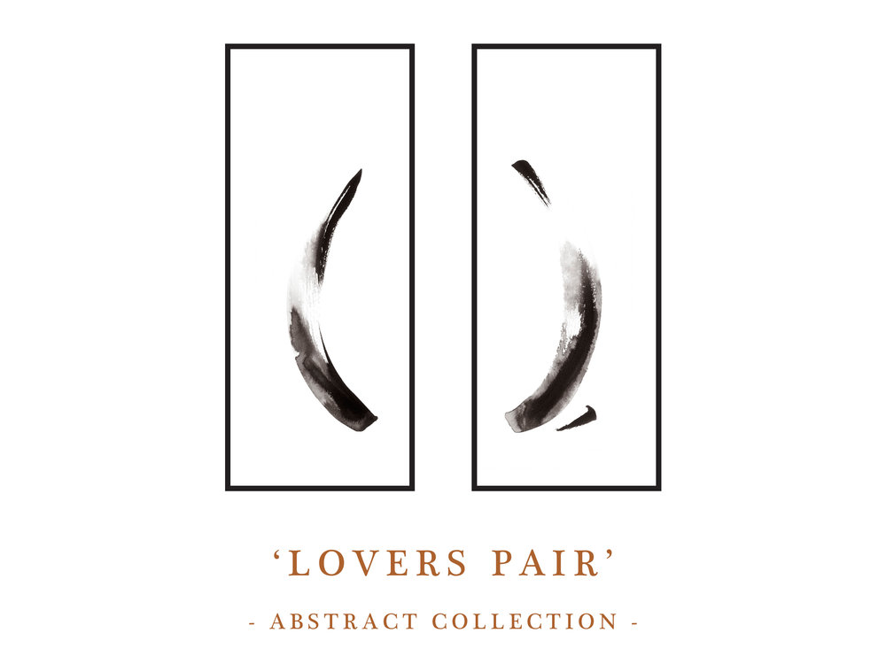 Dana Trijbetz, Sydney-based Artist - Abstract Collection 2018 - Ink Paintings - 'Lovers Pair' Website Photos.jpg