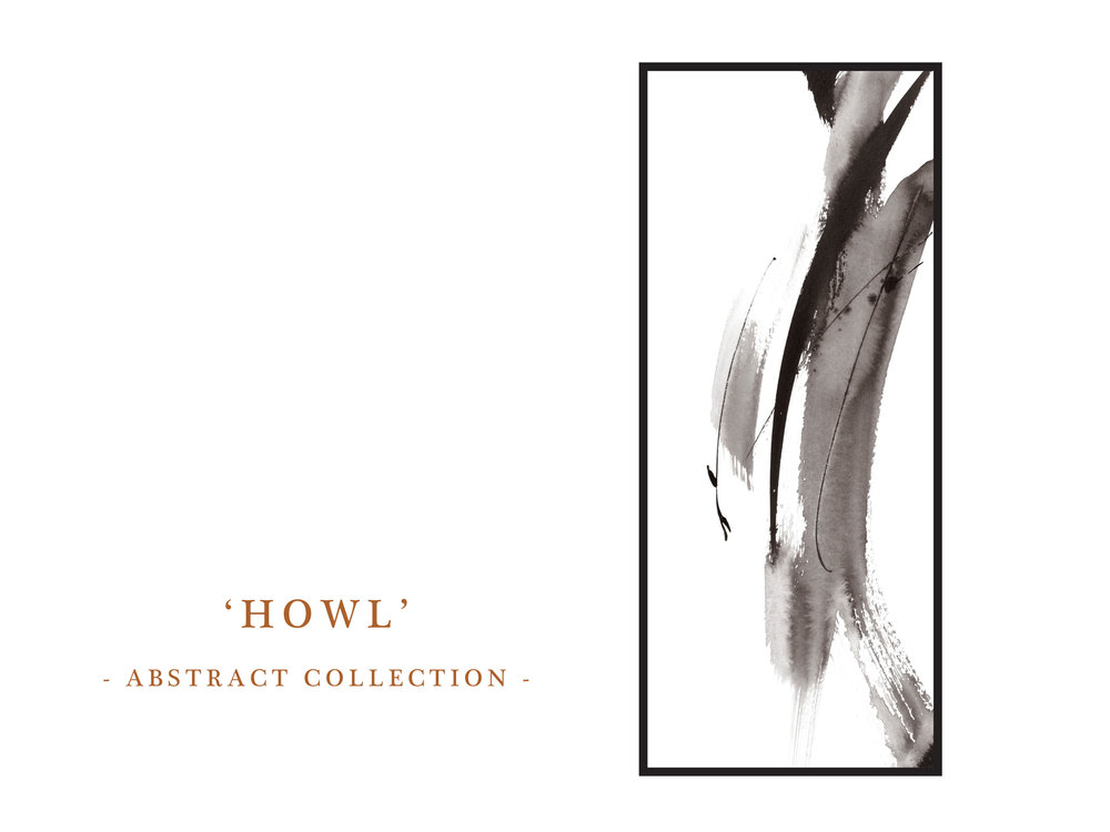 Dana Trijbetz, Sydney-based Artist - Abstract Collection 2018 - Ink Painting - 'Howl' Website Photo.jpg