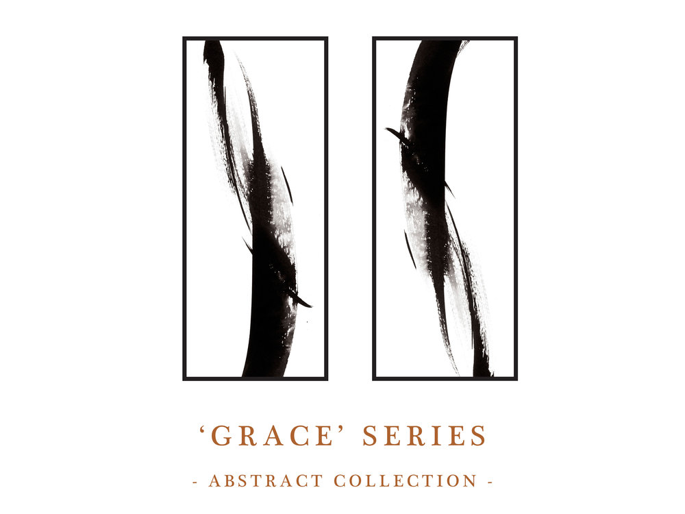 Dana Trijbetz, Sydney-based Artist - Abstract Collection 2018 - Ink Paintings - 'Grace' Series Website Photo.jpg