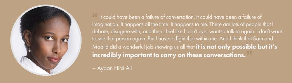 Ayaan Hirsi Ali – Testimonial