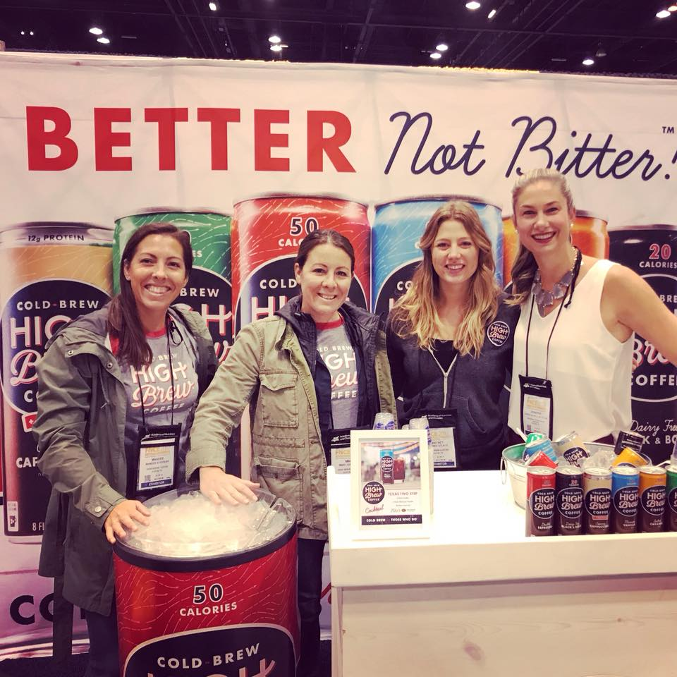 Check us out at #fnce ! Caffeine to jump start your day with High Brew Coffee !