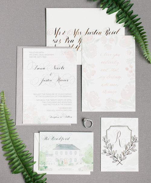 dana reid calligraphy invitations