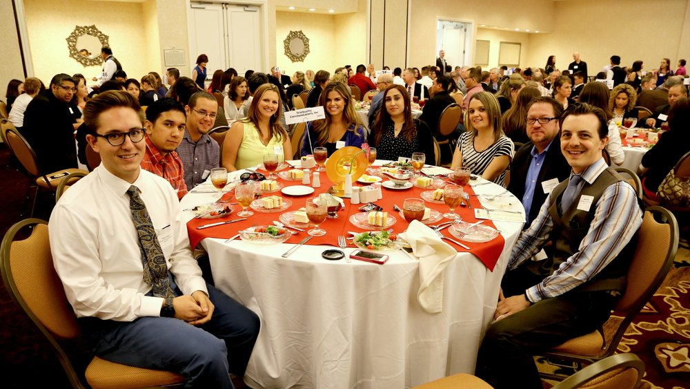 The TeleQuality team enjoying the SABJ Best Places to Work Luncheon held at the Embassy Suites in downtown San Antonio.