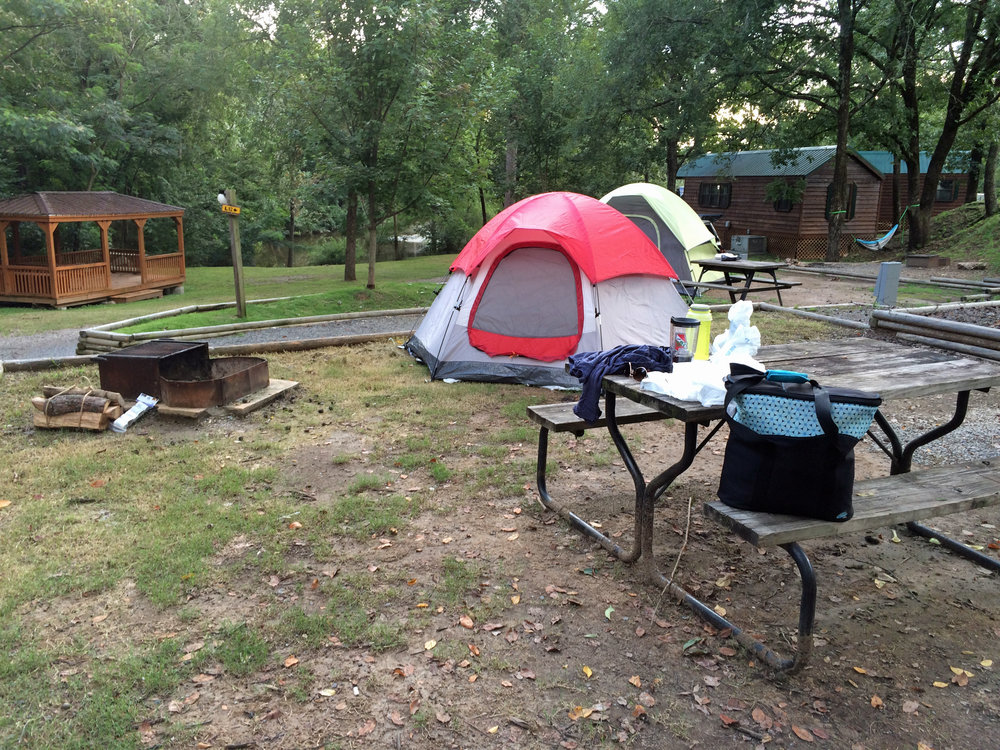 KOA campground I moved to the second night.  Less generator and road noise and I had other tent campers to chat with about the area and our travels.