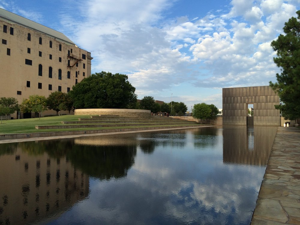 Oklahoma City Bombing Memorial...eerily beautiful