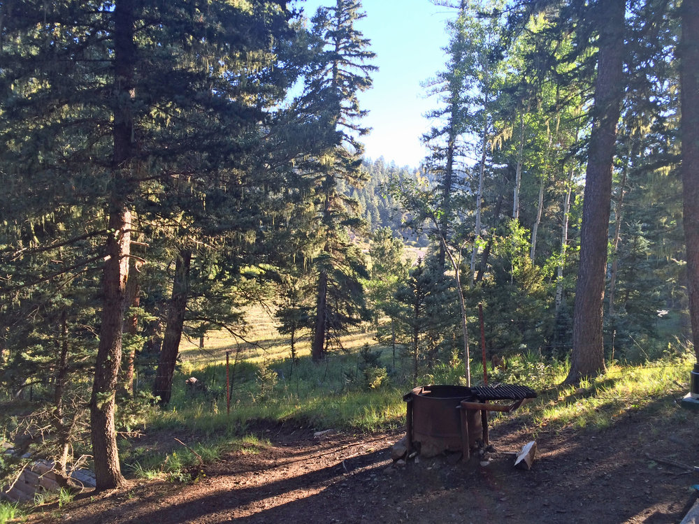 Morning view from my campsite