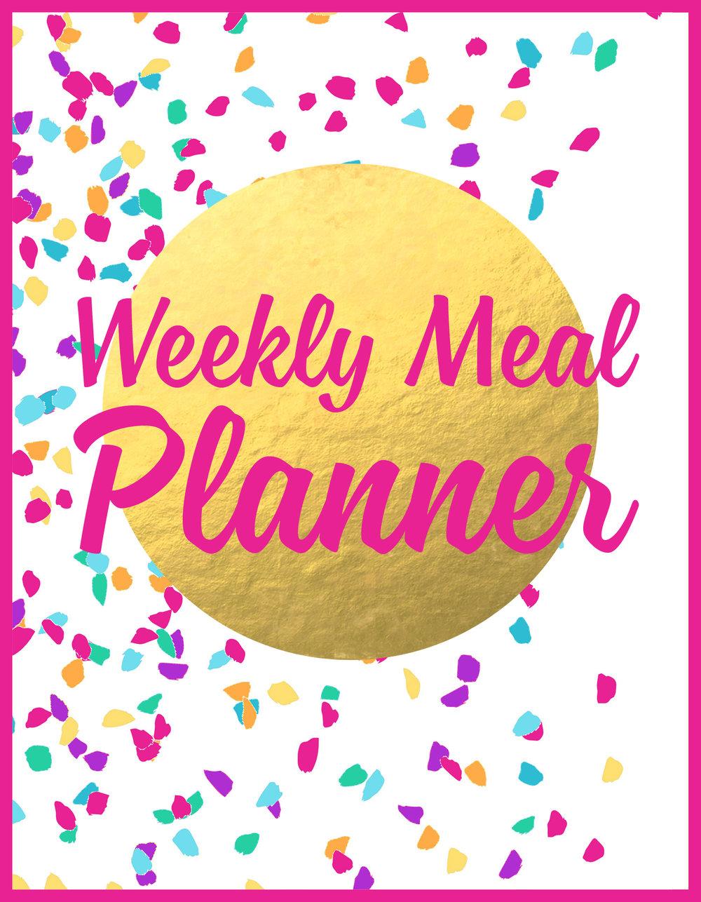 Julia Jackson Weekly Meal Planner