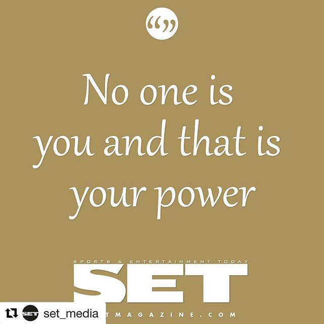You have the power!  #Repost from our friends at @set_media  @set_media with @get_repost ・・・ Keep inspiring. Keep setting the example. You're more powerful than you know.  #SETInspiration #SETMotivation #MiddayMotivation