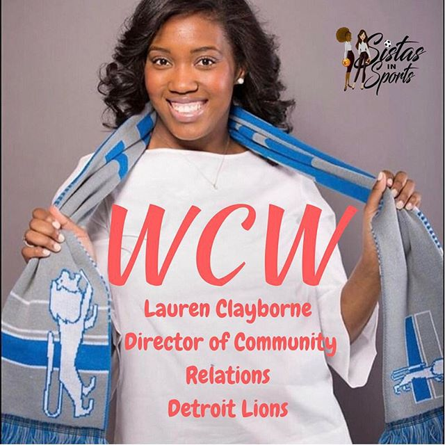 #WCW is our April Spotlight @laurenclayborne. She joins SIS to discuss her career in sports an how she continues to make an impact in the Detroit Community! Interview will be LIVE on website at SistasinSports.com Link in BIO!