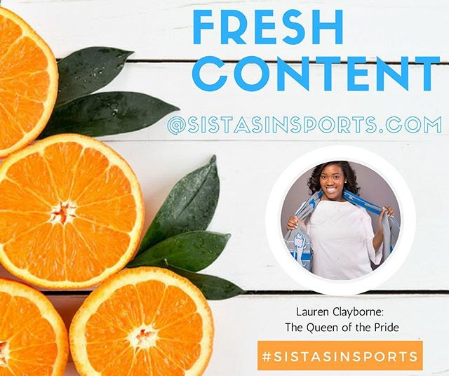 Just a little something to get you through your Friday! Check out April Spotlight interview with @laurenclayborne! Thank you again for sharing your story! Link in Bio! #SistasinSports